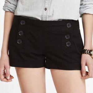 Express sailor button front shorts